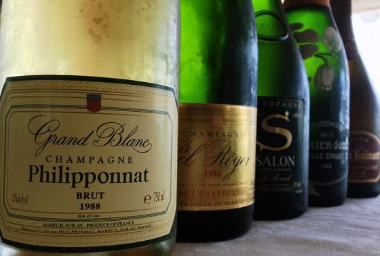 bottiglie di champagne annata 1988