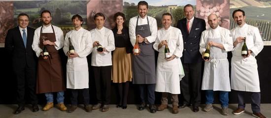 Luca Cuzziol, Alice e Bruno Paillard e i sei chef stellati