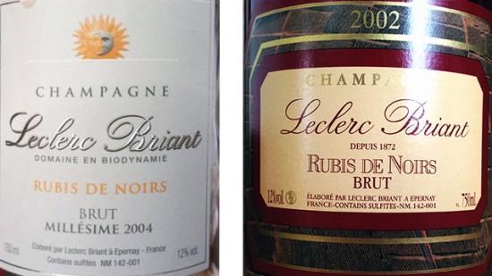 champagne Rubis de Noirs Leclerc Briant