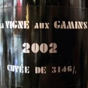 champagne Thiénot La Vigne aux Gamins 2002