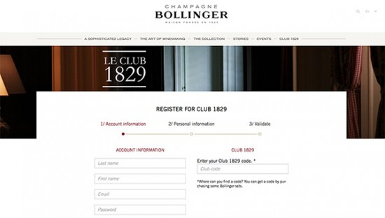 Bollinger 'Club 1829'