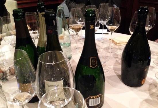 Degustazione champagne con bicchieri Riedel
