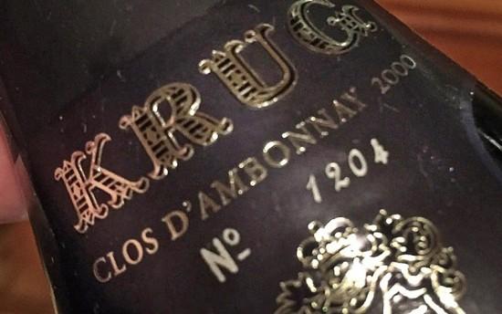 Bottiglia champagne Krug Clos d'Ambonnay 2000