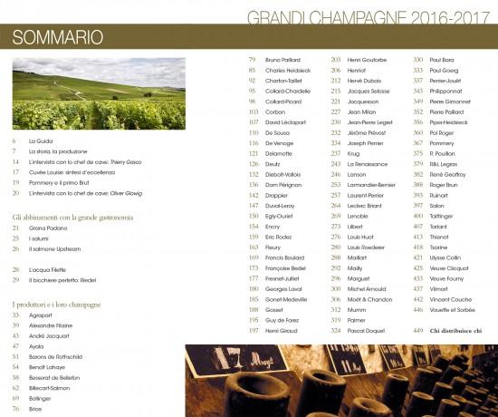Sommario guida Grandi Champagne edizione 2016/17