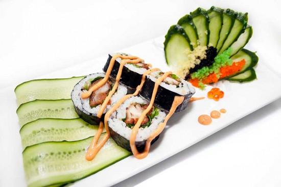 champagne e sushi