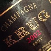 champagne Krug 2002