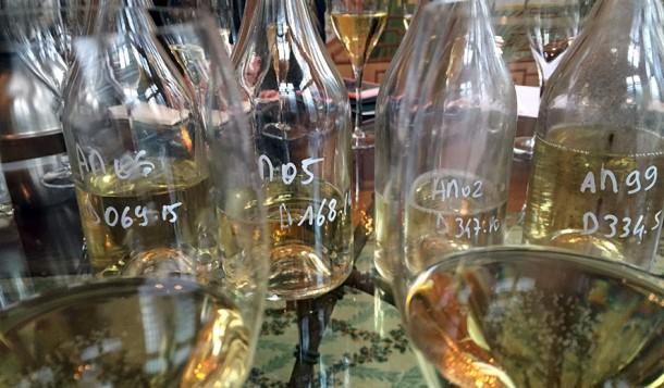 Bottiglie verticale champagne Deutz