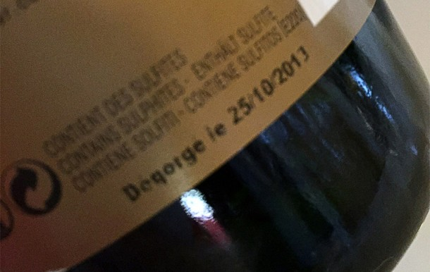 Etichetta con dégorgement Bollinger RD 1988