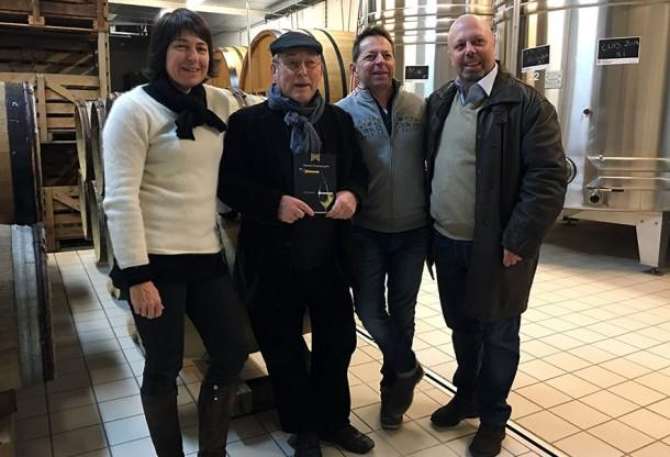 La famiglia Diebolt-Vallois (Jacques con i figli Isabelle e Arnaud), cui fa capo una delle più belle realtà champenoise, il sottoscritto e… la nuova edizione di 'Grandi Champagne'!