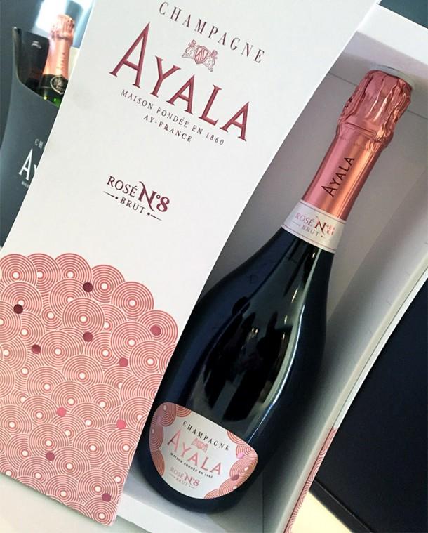 Confezione champagne Ayala Rosé n. 8