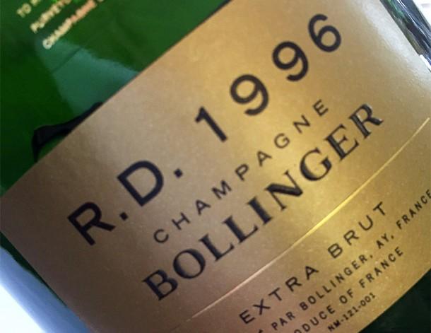 Champagne Bollinger R.D. 1996