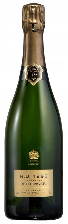 Bottiglia champagne Bollinger R.D. 1996
