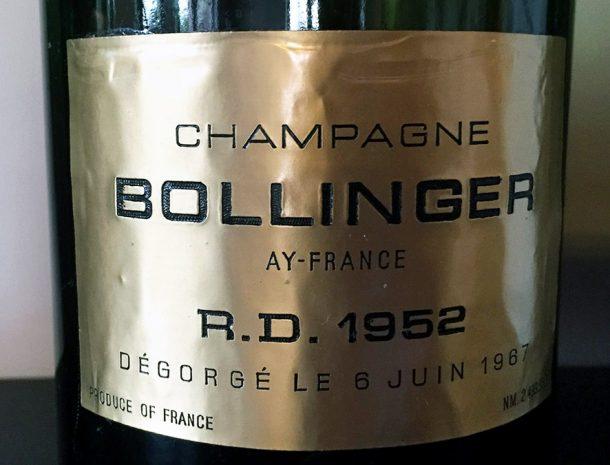 champagne Bollinger R.D. 1952
