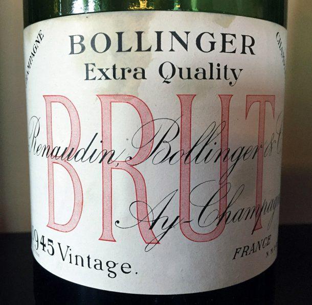 Champagne Bollinger Vintage 1945