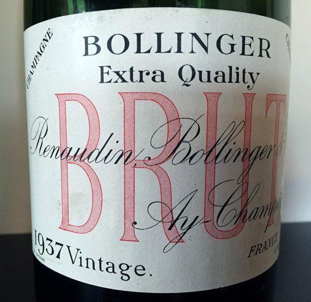 champagne Bollinger Vintage 1937