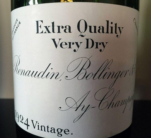 champagne Bollinger Vintage 1924