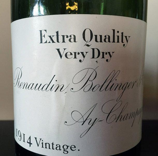 Champagne Bollinger Vintage 1914