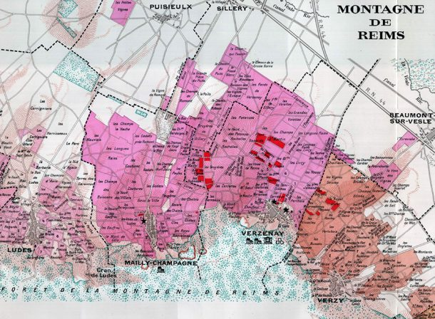 mappa vigneti Louis Roederer