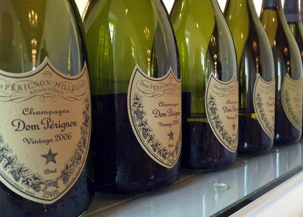 Verticale champagne Dom Pérignon