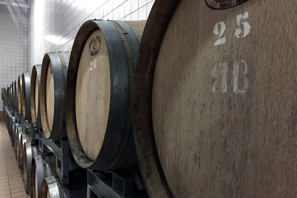 botti di legno per lo champagne