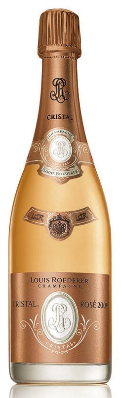 Bottiglia champagne Cristal Rosé 2009