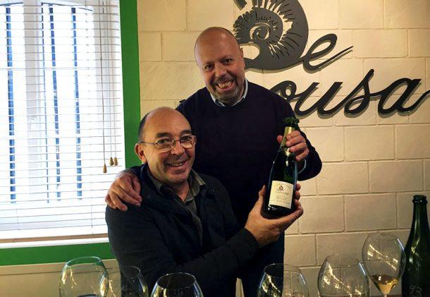 Il sottoscritto, giustamente soddisfatto, insieme a Erick De Sousa al termine della degustazione: grazie ancora!