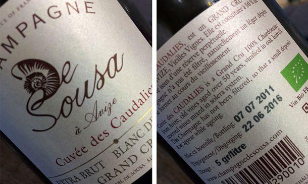 champagne De Sousa Extra brut Blanc de Blancs