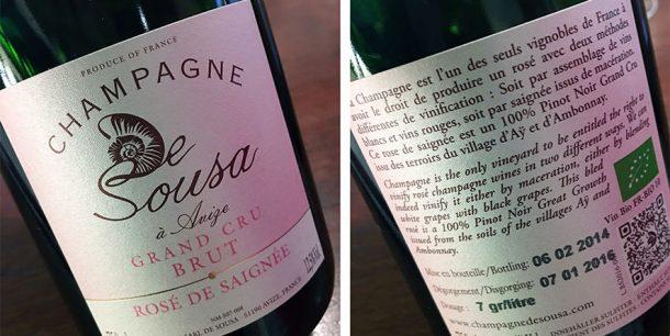 De Sousa Grand Cru Brut Rosé De Saignée