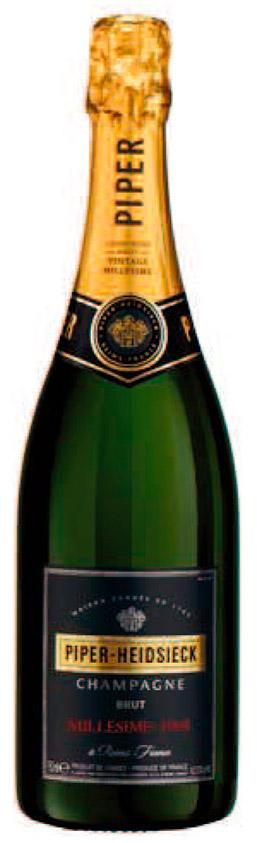 Bottiglia di champagne Piper Heidsieck Vintage 1998