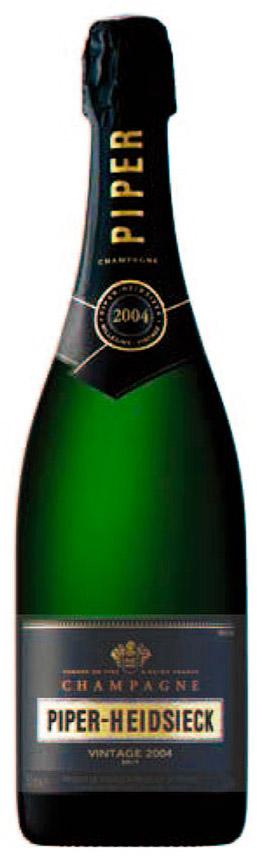 Bottiglia di champagne Piper Heidsieck Vintage 2004