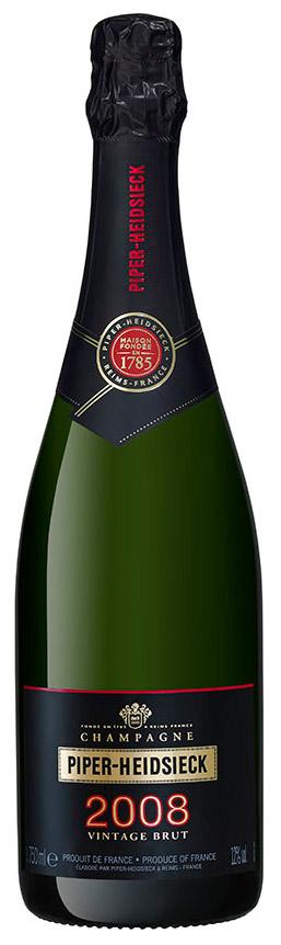 Bottiglia di champagne Piper Heidsieck Vintage 2008