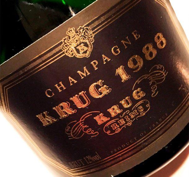 Champagne Krug 1988