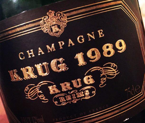 Champagne Krug 1989