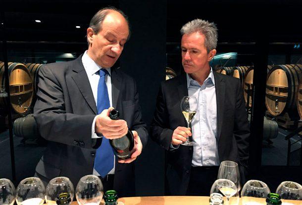 Olivier de la Giraudière, direttore export, ed Hervé Dantan, chef de cave