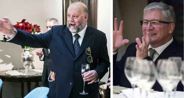 Leo Damiani e lo chef de cave Hervé Deschamps
