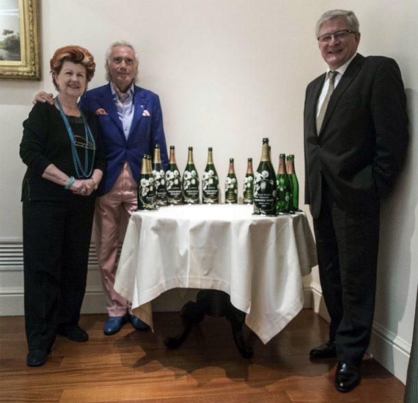 Annie Féolde, Giorgio Pinchiorri e lo chef de cave Hervé Deschamps