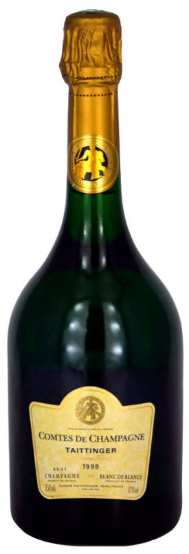 Bottiglia Taittinger Comtes de champagne 1998 Blanc de Blancs