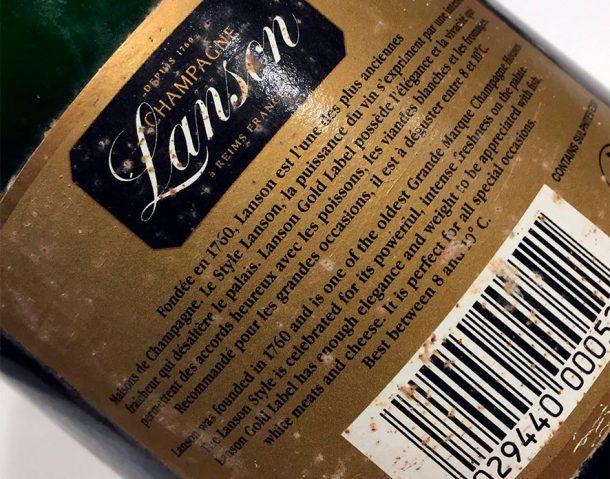 controetichetta Gold Label 1996 Lanson