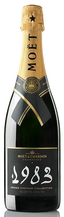 Bottiglia di champagne Moët & Chandon Grand Vintage Collection 1983