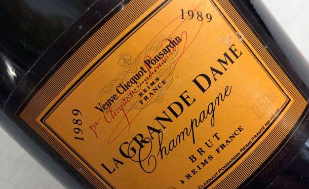 champagne Veuve Clicquot La Grande Dame 1989
