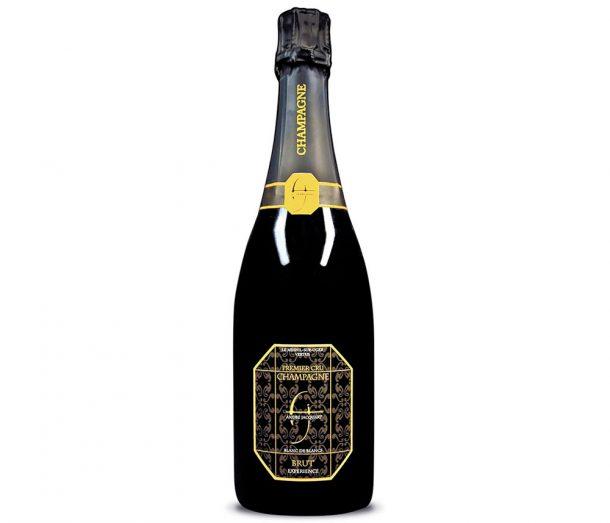 Bottiglia di champagne André Jacquart blanc de blancs