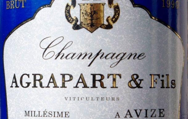 Etichetta Champagne Agrapart millesimo 1990