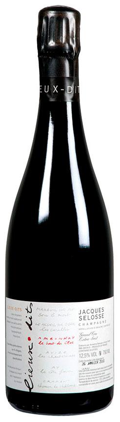 Bottiglia champagne Selosse Le Bout du Clos
