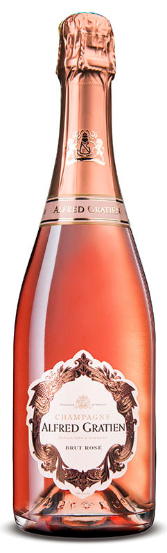 Bottiglia champagne Alfred Gratien rosé