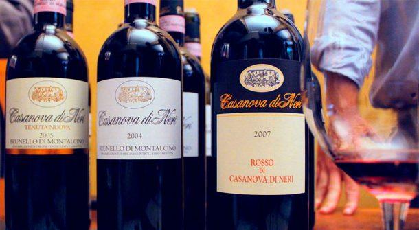 Vini rossi Casanova di Neri