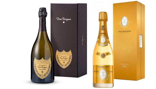 champagne dom perignon e cristal