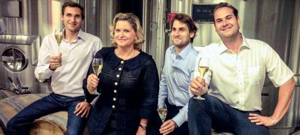 Carol Duval-Leroy con i tre figli