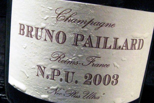Degustazione champagne Bruno Paillard N.P.U. 2003