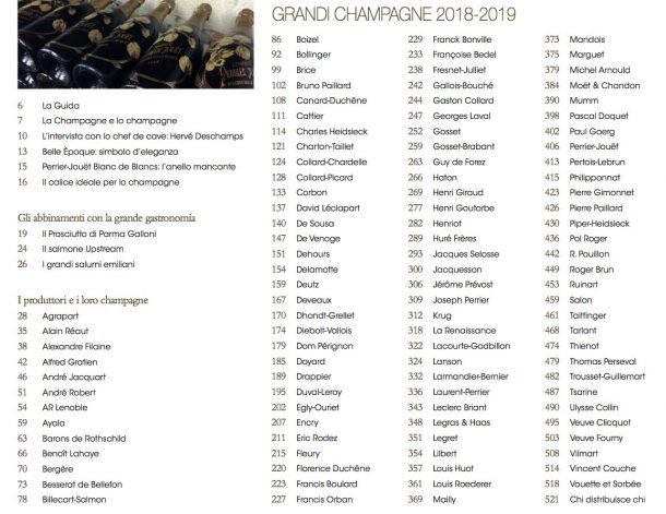 Sommario guida Grandi Champagne 2018-19