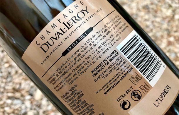 Controetichetta Duval Leroy Extra Brut Prestige